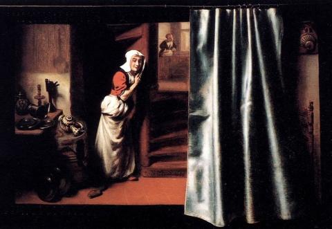 Николас Маес, Подслушивающая сварливая тетка, Амстердам, 1655 г.